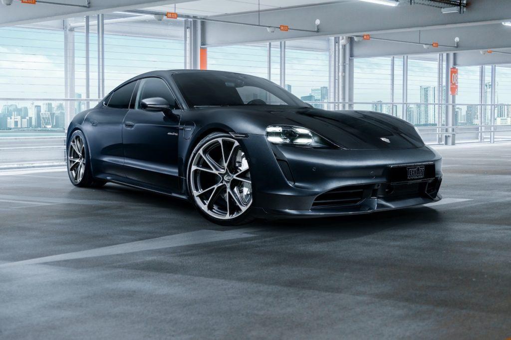 Porsche Taycan Elektroauto Techart Tuning Felgen Formula VI