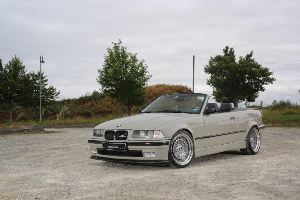 Tuning BMW E36 323i Cabrio Karosserie-Anbauteile Carbon Custom-Felgen Styling 3 Tieferlegung Innenraum Leder Alcantara