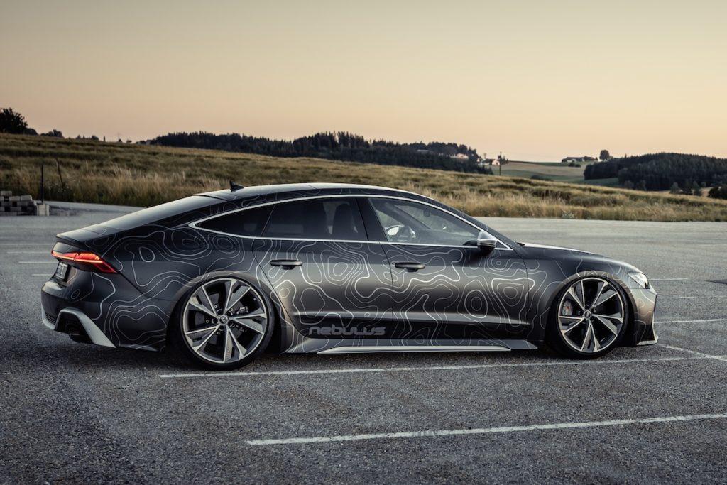 Tuning Topmodell Audi RS 7 Sportback Nebulus Black Box-Richter EightEleven Design HGP Turbo Leistungssteigerung Folierung Tieferlegung Airride