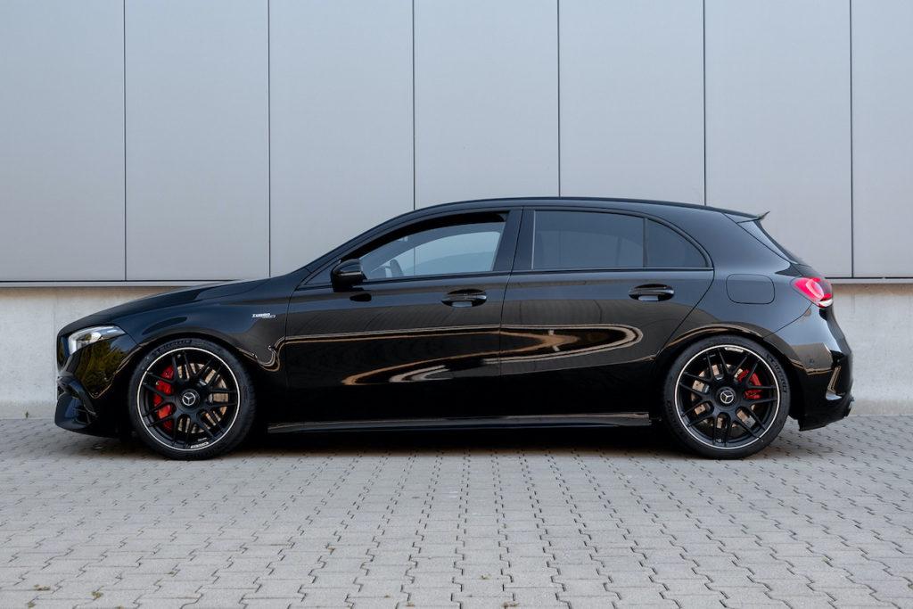 H&R Sportfedern Tieferlegung Mercedes-AMG A 45 S Fahrwerk Spurplatten