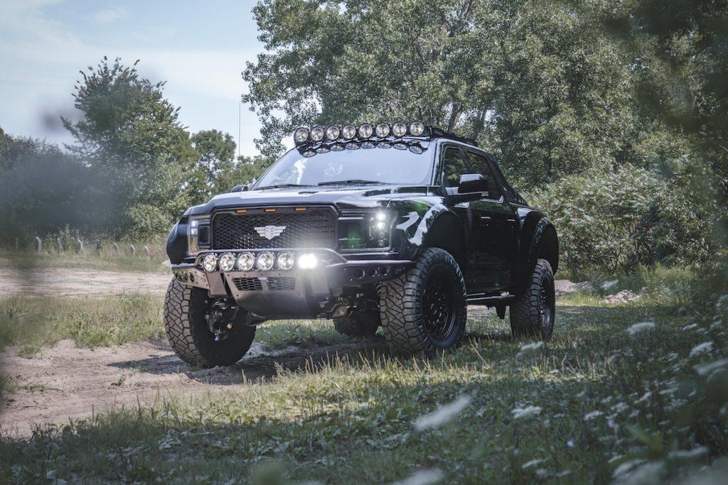Ford F-150 Tuning Veredlung limitierte Auflage Mil-Spec Automotive Kompressor-V8 Karosseriekit Felgen US-Car Pick-up Truck