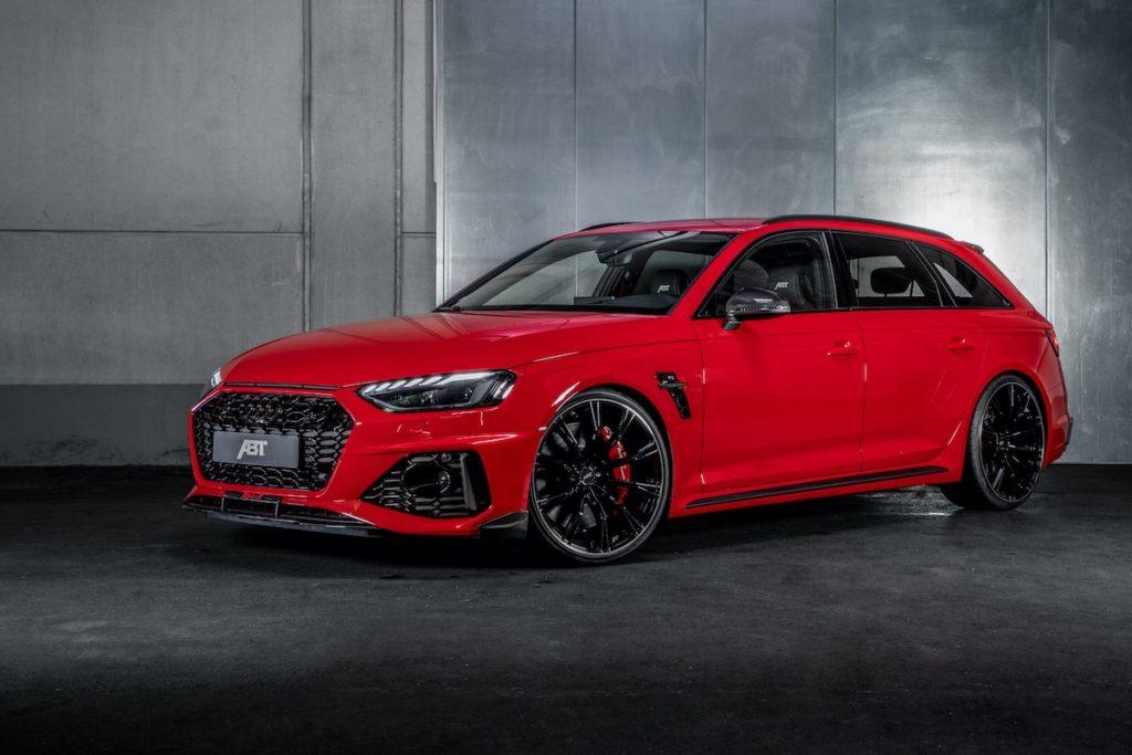 Audi RS 4 Avant Tuning ABT Sportsline RS4-S Leistungssteigerung Carbon-Bodykit Leistungssteigerung Tieferlegung Felgen Innenraum-Veredlung