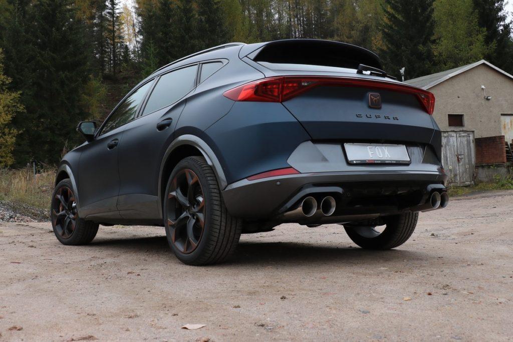 Cupra Formentor Sport SUV Edelstahl-Abgasanlage ab Kat FOX Sportauspuff