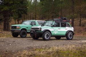 Feuerwehrauto Geländewagen Studie Ford + Filson Wildland Fire Rig Concept Studie Geländewagen Wald-Feuerwehrauto