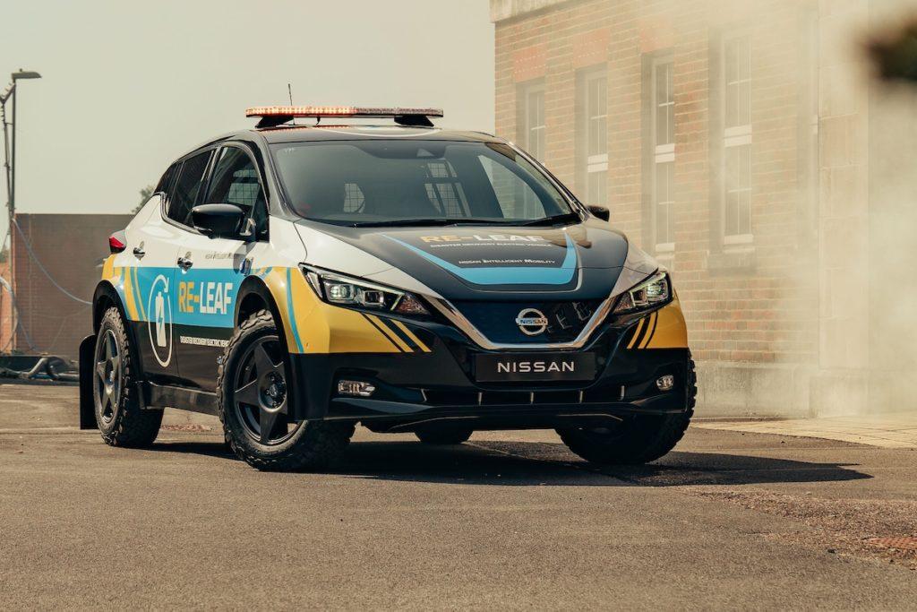 Katastrophenhilfe in Krisengebieten Showcar Studie Nissan RE-LEAF Elektroauto Stromlieferant