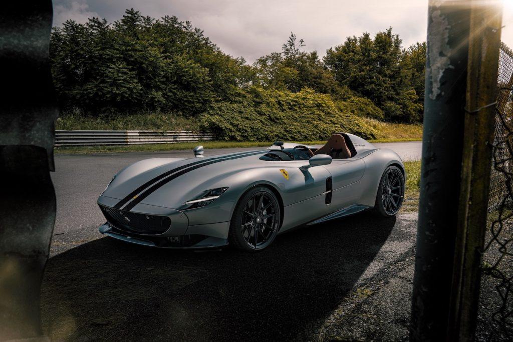 Tuning Ferrari Monza SP1 Sondermodell Novitec Leistungssteigerung Abgasanlage Tieferlegung Sportfedern Felgen NF10 Vossen Roadster Barchetta
