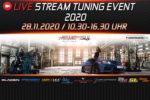 Online-veranstaltung JMS Fahrzeugteile Live Stream Tuning Event 2020 28. November Gladen Eisenmann Barracuda Cor.Speed KW ST Suspensions RaceChip