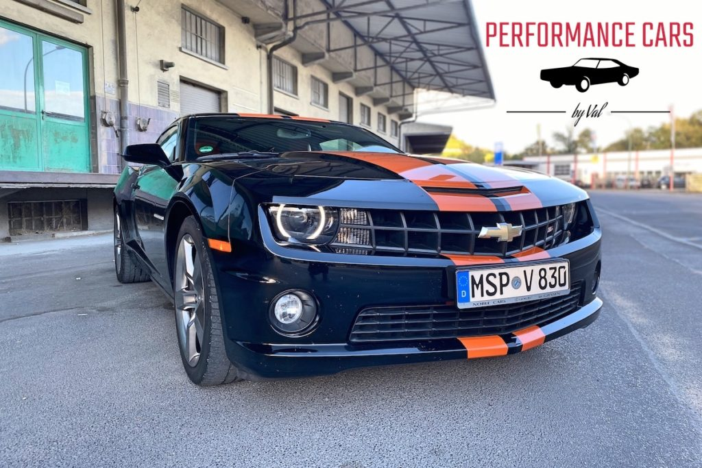 US-Car-Vermietung Performance Cars by Val V8 Muscle Car Sportwagen Coupé Chevrolet Camaro SS 2011