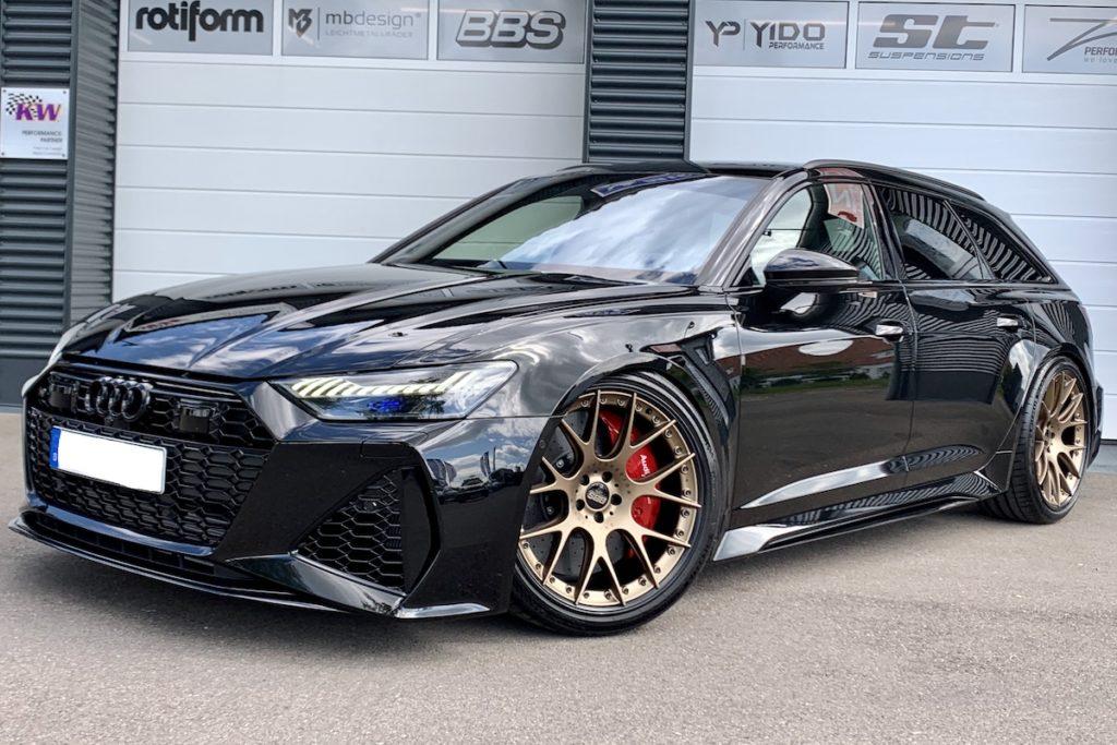 Audi RS6 Avant Tuning TVW Car Design Tuning Titan-Abgasanlage Akrapovic Gewindefahrwerk KW V4 Felgen BBS C-HR II