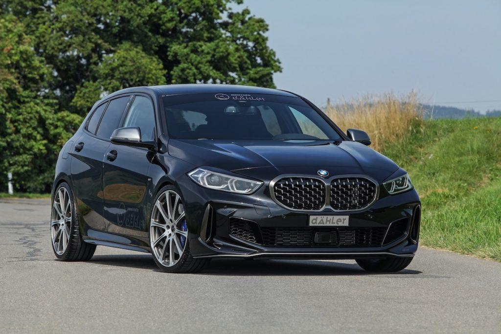 BMW F40 M135i xDrive Topmodell Tuning dÄHLer Competition Line Fahrwerk Leistungssteigerung Abgasanlage Felgen