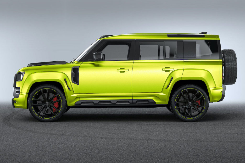 Land Rover Defender 110 Tuning Lumma Design CLR LD Breitbau Bodykit Widebody Felgen