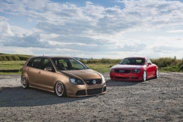 Tuning Airride-Duo VW-Konzern Audi TT 1.8T 8N VW Polo 1.2 9N3 Tieferlegung Luftfahrwerk Felgen Innenraum-Veredlung