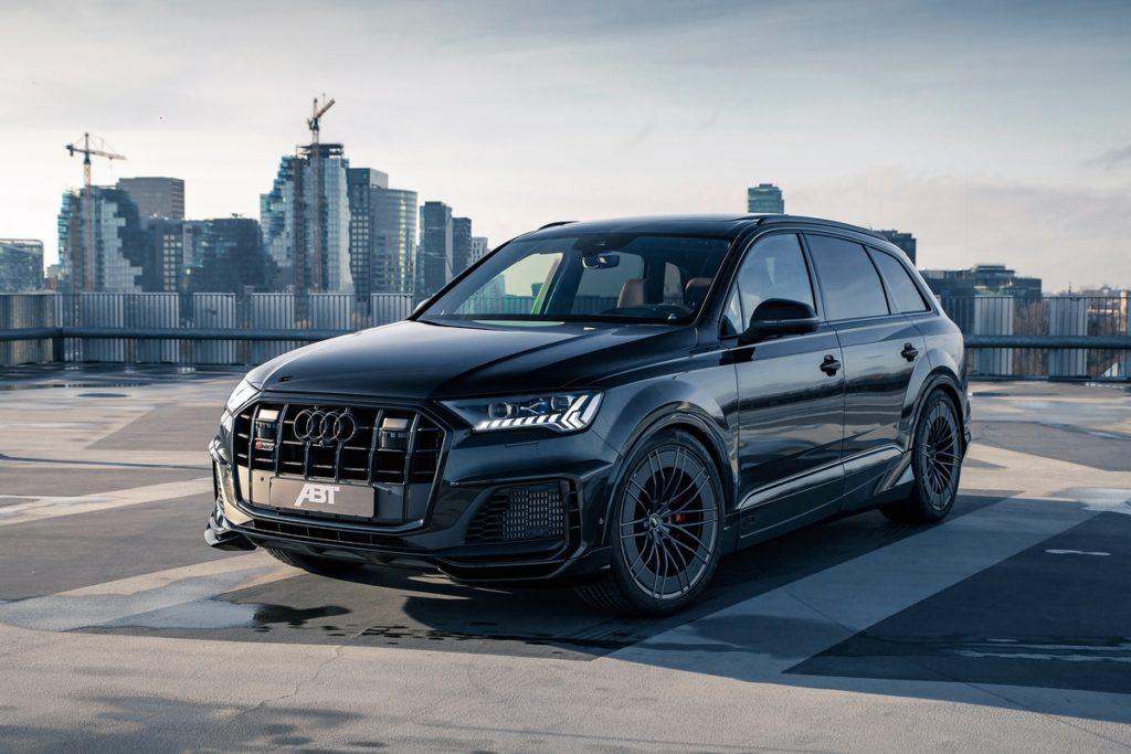 Audi SQ7 SUV Topmodell Benziner Biturbo-V8 Tuning ABT Sportsline Aeropaket Breitbau Widebody Bodykit Felgen ABT HR Aero