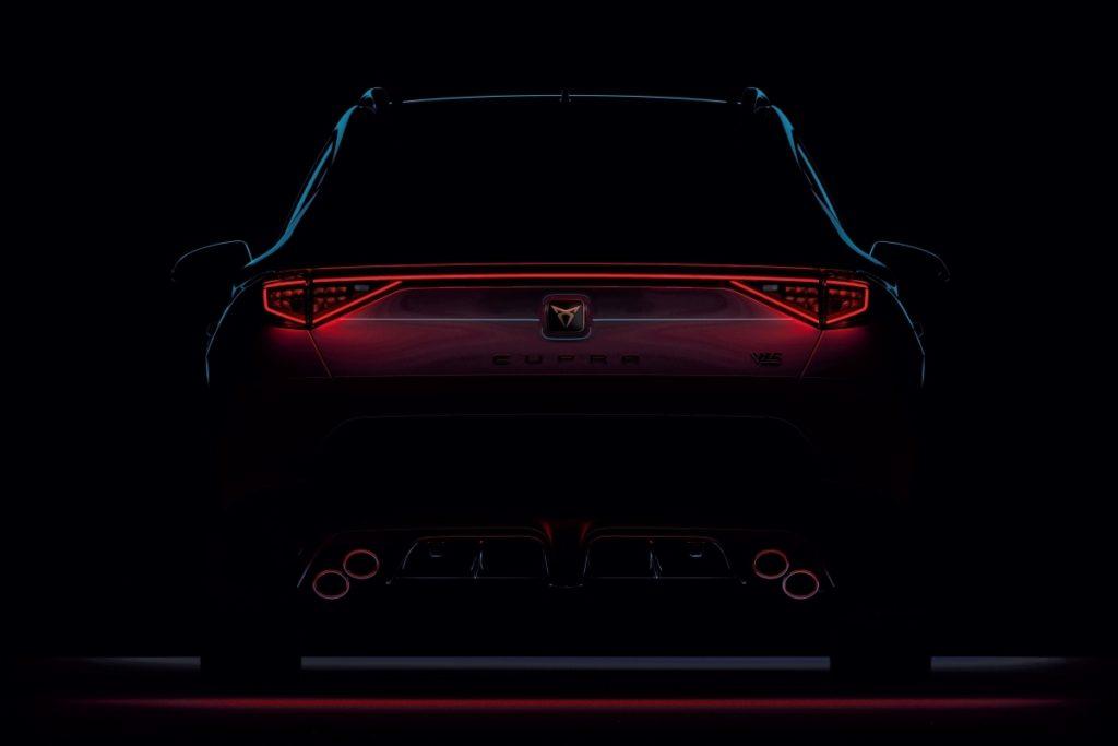 Teaser Sport-SUV Topmodell Cupra Formentor VZ5 Neuheit Fünfzylinder Turbomotor Teaser Vorschau 22. Februnar limitiert