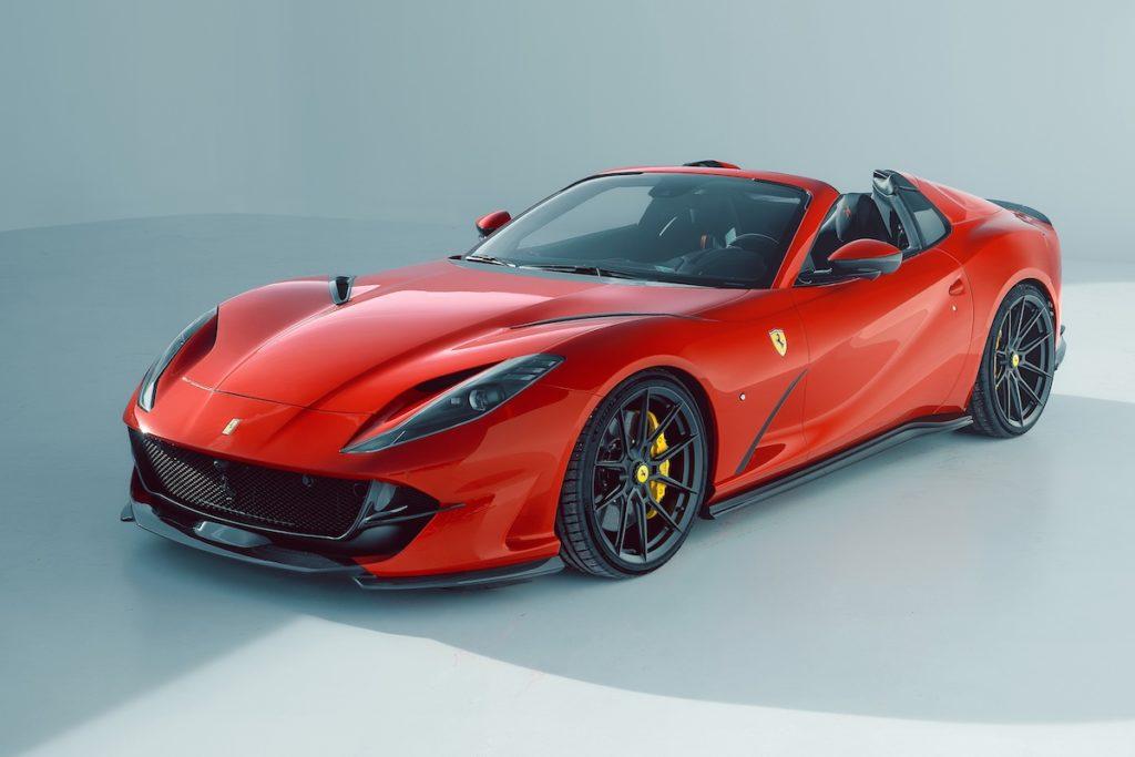 Ferrari 812 GTS Tuning Novitec Bodykit Carbon Felgen Vossen Leistungssteigerung Abgasanlage Tieferlegung Sportfedern Interieur Innenraum