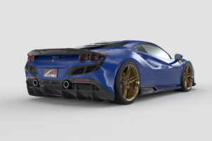 3D-gedruckter Carbon-Bodykit 1016 Industries Ferrari F8 Tributo Mittelmotor Sportwagen Coupé