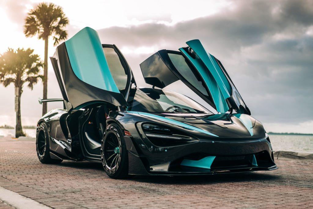 McLaren 720S Mittelmotor-Sportwagen Tuning Widebody Karosseriekit Breitbau 1016 Industries 3D-Druck Carbon