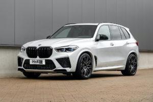 BMW X5 M F95 Topmodell Tuning Fahrwerk H&R Tieferlegung Gewindefedern Sportfedern Spurverbreiterungen SUV