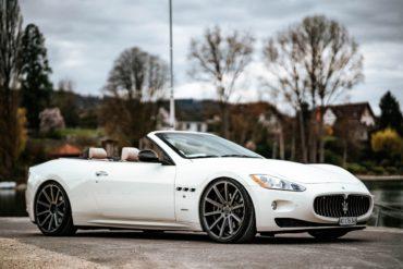 Maserati GranCabrio Tuning Veredlung Cor.Speed Sports Wheels Deville Felgen Räder Tieferlegung V8 Sportwagen