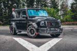 Mercedes-AMG G 63 W463a Tuning Brabus 900 Rocket Edition Geländewagen Veredlung limitiertes Sondermodell Hubraummotor Leistungssteigerung Breitbau-Bodykit Widebody Schmiedefelgen Innenraum-Vereldung Leder