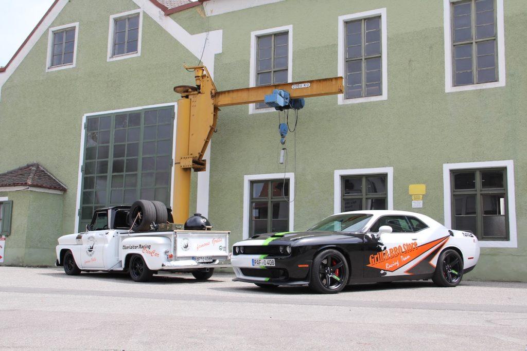 Dodge Challenger SRT Hellcat Drag Racer US-Car Muscle Car Leistungssteigerung Oberleiter.Racing Team