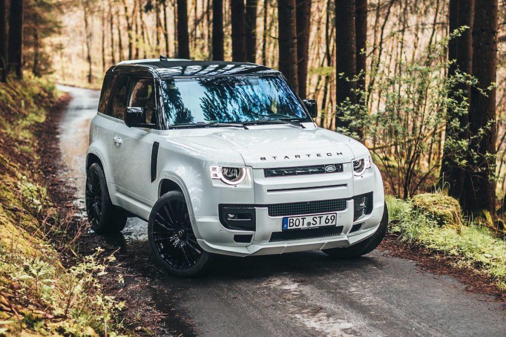 Land Rover Defender 90 Tuning Startech Karosserie-Bausatz Bodykit Felgen Tieferlegung Innenraum-Veredlung Offroader Geländewagen 4x4