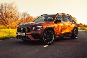 Tuning Väth SUV Topmodell Mercedes-AMG GLB 35 Folierung Leistungssteigerung Felgen Fahrwerk Abgasanlage