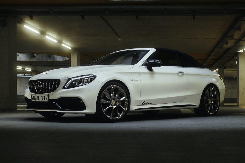 Mercedes-AMG C 63 S Cabrio Topmodell Biturbo V8 Achtzylinder M177 Leistungssteigerung Felgen Räder Tuning Sportservice Lorinser