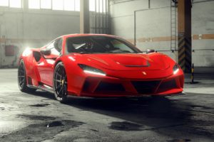 Ferrari F8 Tributo Mittelmotor-Sportwagen V8 Achtzylinder Tuning Novitec N-LARGO Breitbau Widebody Karosseriekit Leistungssteigerung Felgen Carbon limitiert