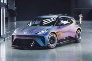Cupra UrbanRebel Concept Studie Weltpremiere IAA Mobility 2021 München Elektro-Stadtauto Ausblich Motorsport-Style
