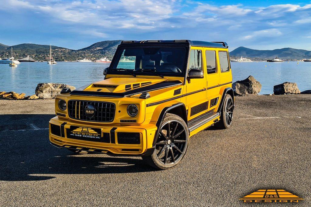 Mercedes-Benz G-Klasse W463a Tuning G&B Design G-Boss Widebody Karosseriekit Widebody Breitbau Felgen Räder Innenraum-Veredlung