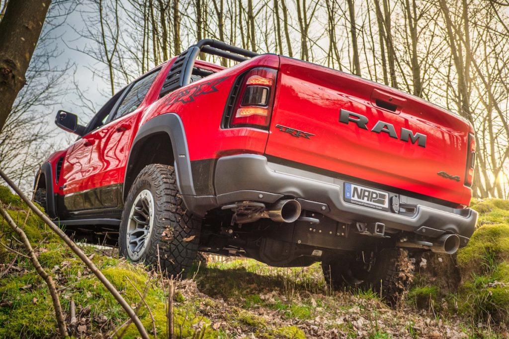 Ram TRX Tuning NAP Sportauspuff Manufaktur Klappen-Abgasanlage Ram 1500 Topmodell HEMI Achtzylinder Kompressor V8 Hellcat