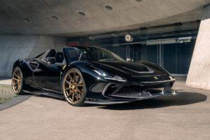 Ferrari F8 Spider Mittelmotor Sportwagen Tuning Veredlung Novitec Carbon-Bodykit Felgen Vossen Leistungssteigerung Abgasanlage Tieferlegung Innenraum Interieur