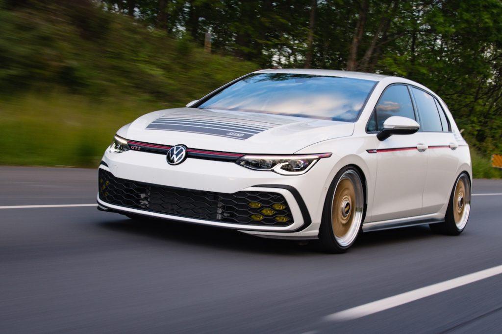 VW Enthusiast Fleet Tuning VW Golf 8 GTI BBS Concept Jamie Orr VW of America Felgen Räder Tieferlegung Abgasanlage