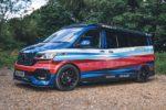 VW Performance Transporter Ausbau CJL Leisure Küche Schlafen Koch Alan Murchison Rennrad Bodykit Folierung Felgen