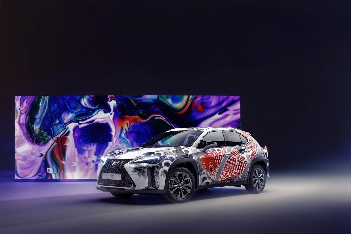 Lexus UX -Kompakt-SUV Tattoo Claudia De Sabe Art Car Großbritannien