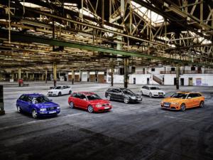 25 Jahre Audi RS Jubiläum RS 2 Avant RS 4 RS 6