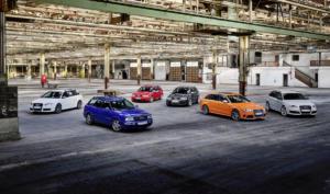 25 Jahre Audi RS Jubiläum RS 2 Avant, RS 4, RS 6