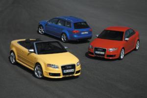 25 Jahre Audi RS Jubiläum RS 4 2. Generation Avant, Limousine, Cabriolet