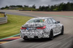 BMW M3 G80 Neuheit Teaser Prototyp Erprobungsfahrt Rennstrecke Topmodell Sportlimousine