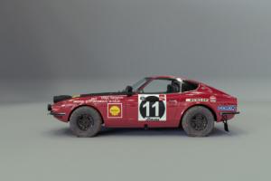 Datsun 240Z Weltmeisterschaft Safari Rallye 1971 Siegerauto