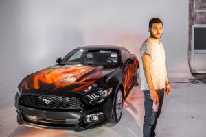 Ford Mustang Coupe Comic Artcar