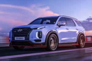 Hyundai Palisade N Rendering Aprilscherz SUV Topmodell