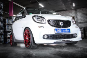 JMS Fahrzeugteile Smart Fortwo 453 Tuning Felgen OZ Superturismo GT Gewindefahrwerk