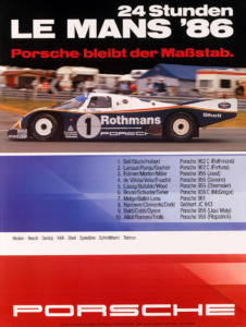 Motorsport, 50 Jahre Porsche-Gesamtsiege in Le Mans