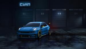Lynk & Co 03 Concept Car Rennwagen TCR Cyan Racing