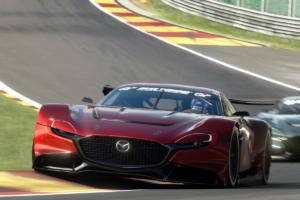 Mazda RX-Vision GT3 Concept Rennwagen Coupé Front Mittelmotor virtuelles Racing Gran Turismo Sport