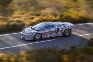 McLaren Grand Tourer Neuheit Prototyp Teaser Erlkönig Testfahrt