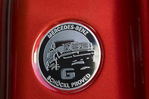 Mercedes-Benz G 350 d G-Klasse Geländewagen Allradler Neuheit Diesel AMG Line designo Hyazinthrot metallic