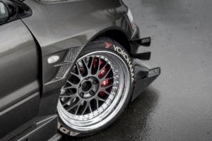 Mitsubishi Lancer Evolution VII Tuning Racing Leistungssteigerung Breitbau Bodykit Widebody Fahrwerk Felgen